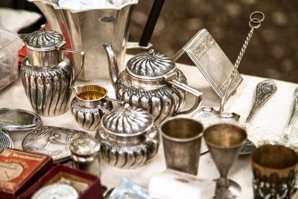 photo of silver antiques